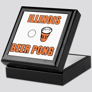 Illinois Beer Pong Keepsake Box