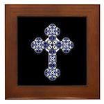 Bluebonnet Cross Framed Tile