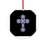 Bluebonnet Cross Ornament (Round)