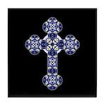 Bluebonnet Cross Tile Coaster