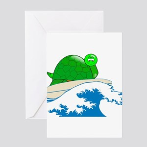 Waxing Turtle Greeting Card