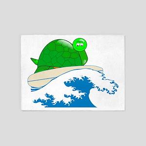 Waxing Turtle 5'x7'Area Rug