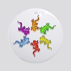 Gecko Colors Ornament (Round)