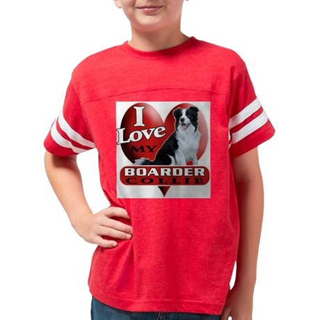border collie Youth Football Shirt