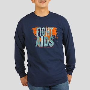 AIDS Awareness Long Sleeve Dark T-Shirt