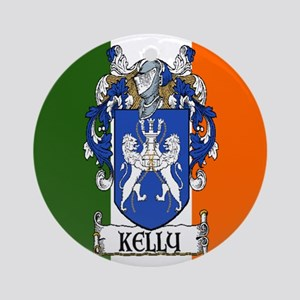 Kelly Arms Irish Flag Ornament (Round)