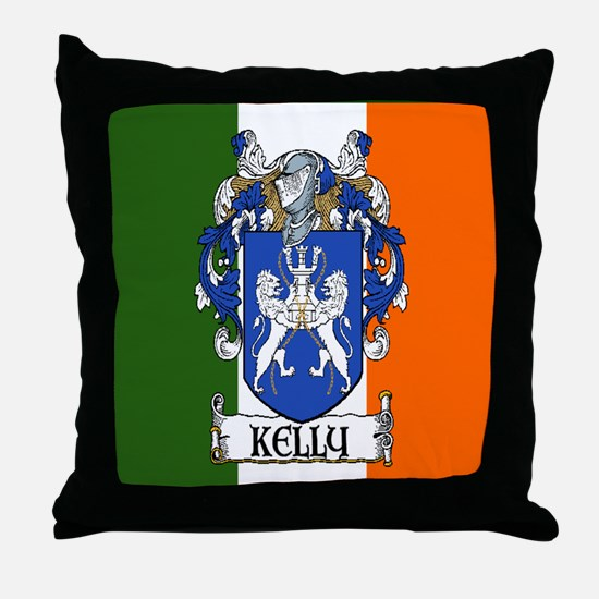 Kelly Arms Irish Flag Throw Pillow