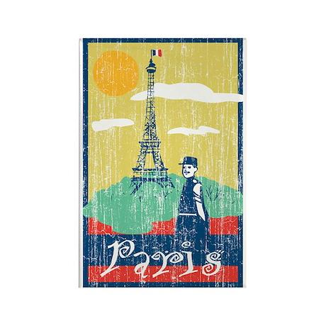 Paris Eiffel Tower Rectangle Magnet