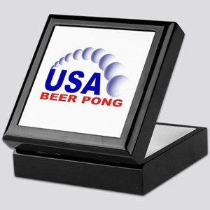 USA Beer Pong Keepsake Box