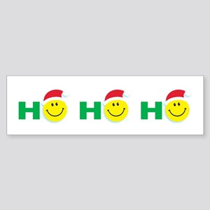Ho Ho Ho Smiley Face: Bumper Sticker