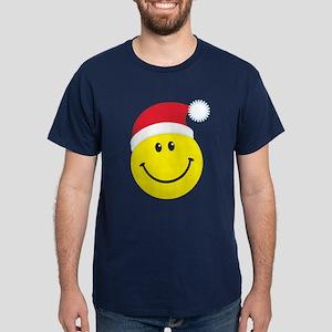 Santa Smiley Face: Dark T-Shirt