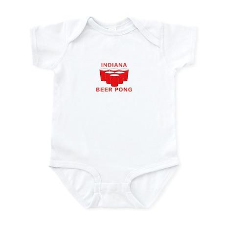 Indiana Beer Pong Infant Bodysuit