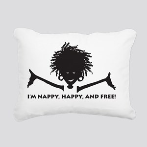 Nappy, Happy and Free! Rectangular Canvas Pillow