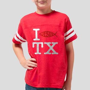 I Baptize TX (Dark) Youth Football Shirt