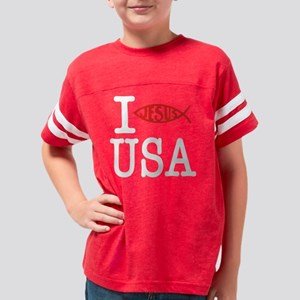 I Baptize USA (Dark) Youth Football Shirt