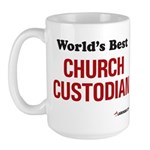World's Best Church Custodian Large Mug
