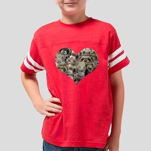 many ferrets heart sweatshirt Youth Football Shirt