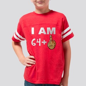 Middle Finger 65th Birthday Youth Football Shirt