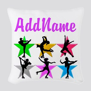 AWESOME SKATER Woven Throw Pillow