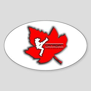 Canadian Girls Kick Ass Maple Oval Sticker