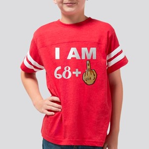 Middle Finger 69th Birthday Youth Football Shirt