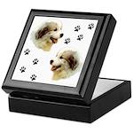 Puppy Paws<br>Keepsake Box, white tile