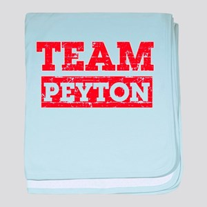 Team Peyton baby blanket