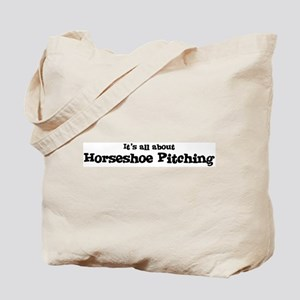 All about Horseshoe Pitching Tote Bag