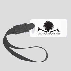 Nappy, Happy and Free! Luggage Tag
