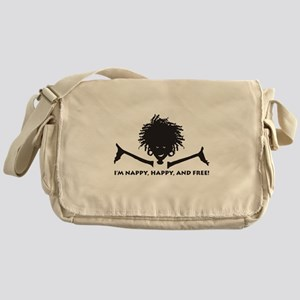 Nappy, Happy and Free! Messenger Bag