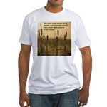 Chief Joseph Earth Quote Fitted T-Shirt