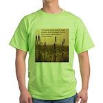 Chief Joseph Earth Quote Green T-Shirt