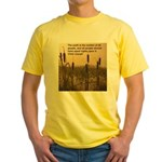 Chief Joseph Earth Quote Yellow T-Shirt