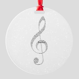 Music Round Ornament