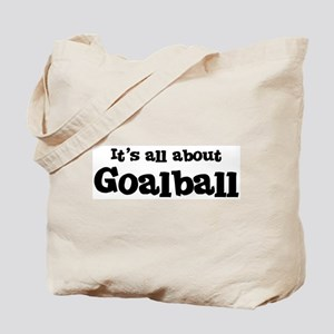All about Goalball Tote Bag