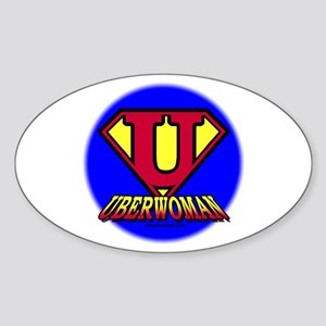 UberWoman Oval Sticker