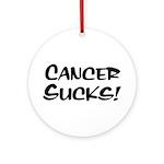 Cancer Sucks! Ornament (Round)
