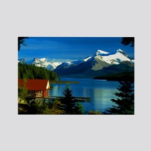 Alpine Lake Rectangle Magnet