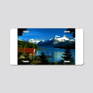 Alpine Lake Aluminum License Plate