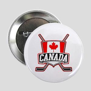 "Canadian Hockey Shield Logo 2.25"" Button"