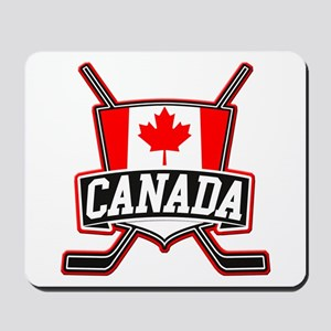 Canadian Hockey Shield Logo Mousepad