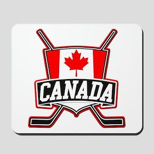 Canadian Hockey Shield Logo Mousepad