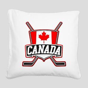 Canadian Hockey Shield Logo Square Canvas Pillow