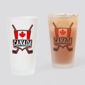 Canadian Hockey Shield Logo Drinking Glass