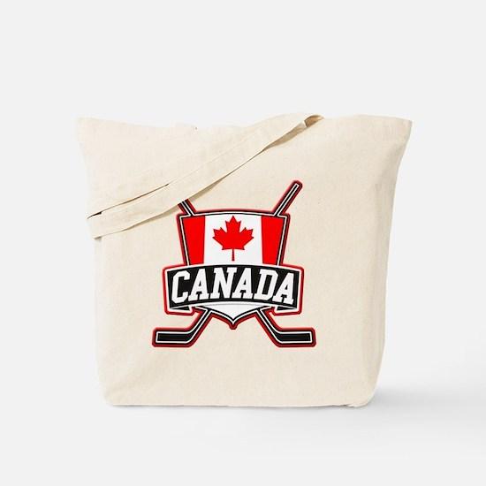 Canadian Hockey Shield Logo Tote Bag