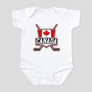 dc6c0f158 Team Canada Hockey Baby Clothes   Accessories - CafePress