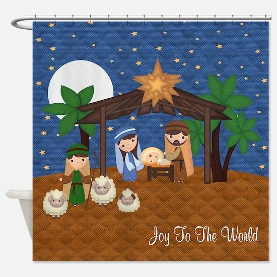 Nativity Scene Shower Curtain