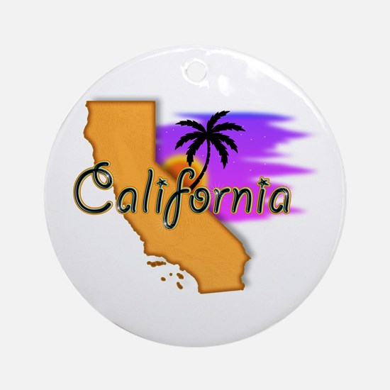 California Ornament (Round)