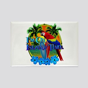 Island Time Surfing Rectangle Magnet