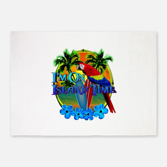 Island Time Surfing 5'x7'Area Rug